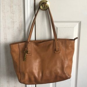 Fossil leather bag/tote
